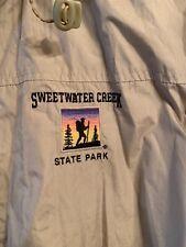 SWEETWATER CREEK STATE PARK Mens i5 Full Zip Windbreaker Khaki/Black Raincoat VG