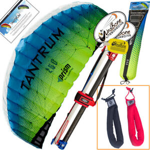 Prism Tantrum 250 Ocean Foil Control Bar Power Kite + Padded Straps Accessory