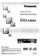 Panasonic DVD-A360A DVD Player Owners Instruction Manual