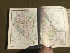 1891 Rand-McNally ATLAS of the World-Bad Binding PERFECT CANDIDATE TO CANIBALIZE