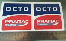 OCTO PRAMAC Decals / Stickers Moto GP Pramac Ducati Team Sponsor(100mmX100mm) X2