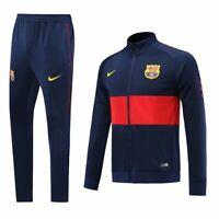 Barcelona Blue Mens Training Sports Jersey Jacket Tracksuit Suit Set