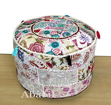 """18"""" Indian Patchwork Cotton Ottoman Pouf Cover Foot Stool Home Decorative Covers"""
