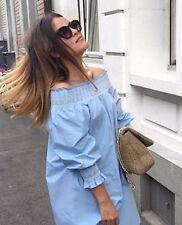 Zara Cotton Long Sleeve Mini Dresses for Women