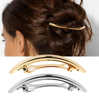French Large Tube Hair Barrette Spring Ponytail Holder Hairpin Automatic