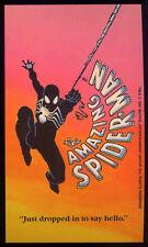 SPIDER-MAN REPRO 1987 BLACK COSTUME PROMO POSTCARD . MARVEL COMICS NOT DVD