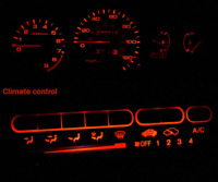 Red LED Cluster + Climate Control Combo Bulb KIT for Honda Civic EG 1992-1995