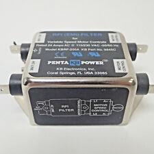 KB ELECTRONICS RFI (EMI) FILTER KBRF-200A 24 AMPS AC AT 115/230 VAC - 50/60Hz