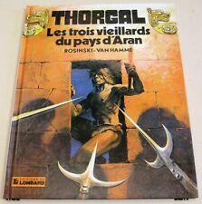"""Dédicace de Jean Van Hamme sur Thorgal  """"3 vieillard ..."""" Rée Lombard. Etat Neuf"""