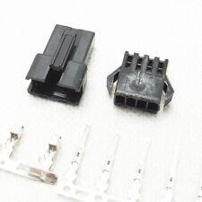 10 Sets 0.1'' 4P SM Male&Female Plug Housing Crimps Terminal Connector+Pins