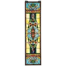 Blackstone Hall Stained Glass Window Design Toscano Hand Crafted Art Glass