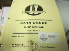 I&T John Deere Tractor 70 Diesel Shop Service Manual Jd 8