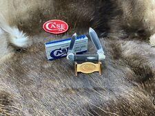 2005 Case Canoe Knife Ebony Handles Mint In Box - 65A