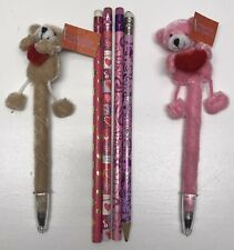 2 Valentines Day Floppy Friends Pens & 4 Valentine's Day Pencils Love Writing