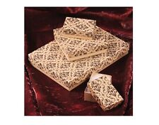 Kraft Boxes Cotton Filled Jewelry Boxes Kraft Damask Gift Boxes 20~50~100~500Pc