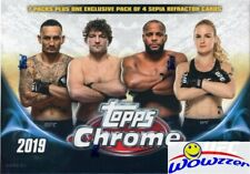 2019 Topps UFC Chrome EXCLUSIVE Factory Sealed Blaster Box-SEPIA REFRACTOR PACK!