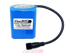 SANYO Li-ion 18650 7.4V 7800mAh Battery for MagicShine LED Bike Light US