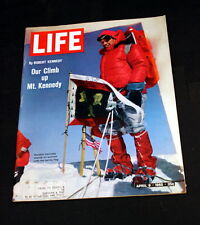 ROBERT KENNEDY ON MT KENNEDY APRIL 9TH 1965 LIFE MAGAZINE