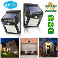 4pc 30 LED Lampe Solaire Projecteur Capteur Détecteur Mouvement Jardin Extérieur