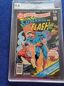 DC COMICS PRESENTS #1, 4th Superman/Flash Race! CGC NM 9.6, GARCIA-LOPEZ-a