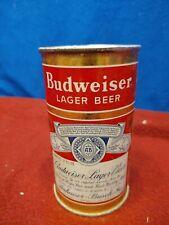 Vintage Budweiser Lager Beer flat top Can, metal, Rare