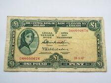 Lady Lavery 1 Pound Irish Banknote 1967