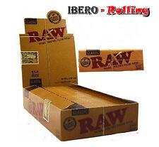 Papel RAW Classic Caja de 24 libritos. 50 hojas por librito. Tamaño 1 1/4 78 mm