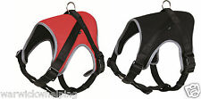 Premium Soft Padded Dog Comfort Robust Harness Black or Red Soft line Powerhouse