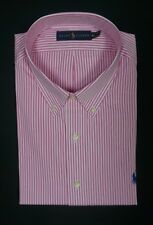 NEW POLO RALPH LAUREN PINK WHITE STRIPED BUTTON DOWN POPLIN DRESS SHIRT SZ XL