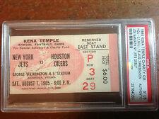 1965 NFL Football Joe Namath Rookie NY Jets Debut Ticket Stub PSA 1/1!  RARE!