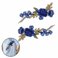 2pcs Embroidery Rose Flower Sew on Patch Badge Bag Jean Dress Applique Craft Hot