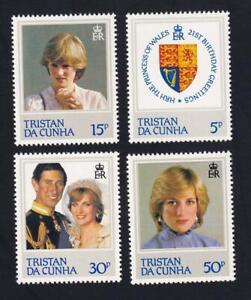 Tristan da Cunha 1982 sc#310-313 Princess Diana 21st Birthday, MNH set   [153]