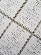 Menu Choice Cards Mounted Packs of 10