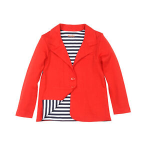 Kidsy Toddler Girls Fashion Nautical Blazer Jacket  – Notched Lapel, Two Buttons