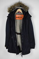SUPERDRY THE WINDPARKA Women's MEDIUM Sherpa Lining Hooded Jacket 29320-JL