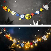 Novelty Alien Robot Bunting String Flags Garland Space Baby Shower Party VH