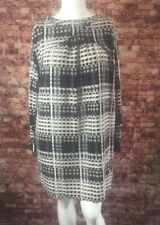 Thakoon For Design History Black Gray Ivory Shift Dress Size XL