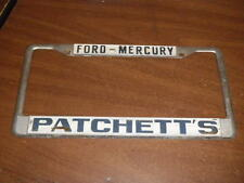 Ford-Mercury Metal Tag License Plate Frame Single embossed holder California