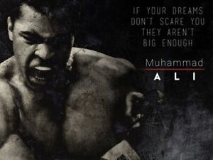 Muhammad Ali Poster Dream Big Quote Art Print (24x18)