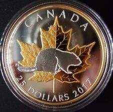 CANADA 1 oz Pure Silver Gold Plated Piedfort – Timeless Icons $25 Coin