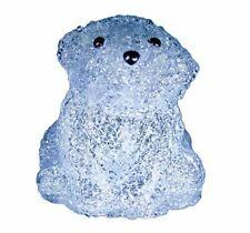 Xepa Ehx-Ab2-Blu Led Illuminated Acrylic Baby Polar Bear Sculpture, Blue