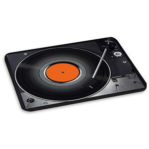 TURNTABLE RECORD PLAYER ORANGE #3 DJ Mixer Vinyl Funny PC Computer Mouse Mat Pad