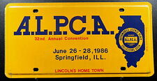"Nummernschild USA Illinois ""ALPCA Springfield Convention 1986"" Treffen. 13446."
