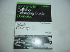 1998 Mitchell Ford Lincoln Mercury Collision Estimating Manual Guide Mustang Jly
