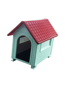 Large Waterproof Outdoor Indoor Plastic Pet Puppy Dog House Home Shelter Kennel