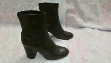 Women's RAG & BONE Black Leather Slip On Boots Size 38 EUR