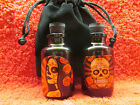 2 BOTTLES JAR CONTAINER POTION OIL WICCA PAGAN GOTH WITCH FREE BLACK VELVET BAG