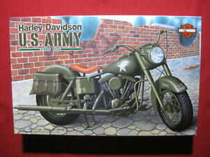 Harley Davidson FLH 1980 US Army 1/12 Imai Model Kit Vintage 1994 U.S. Military