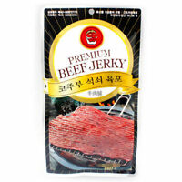 5pcs x 27g Korean Premium Stone-plate Grilled Beef Jerky Snack High Protein_ar