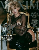 Hailey Baldwin Sexy Model Maxim Cover Signed 8x10 Autographed Photo COA Proof